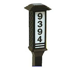 house number solar light brinkmann solar house number address light h136238 qvc com
