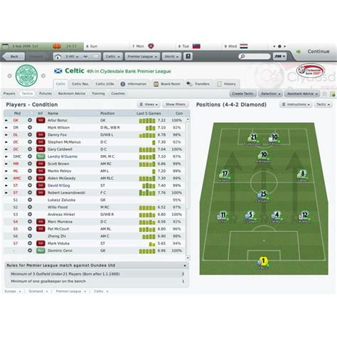 football manager 2010 best tactics football manager 2010 tactics guide tips and tricks for