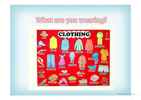 what are you wearing worksheet free esl projectable worksheets made by teachers