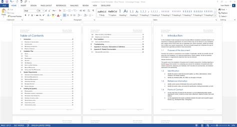 installation guide template ms word instant download