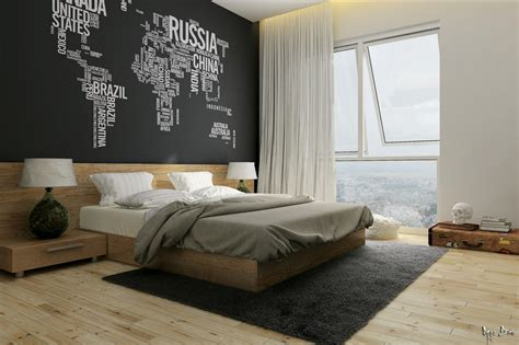 Bedroom Feature Wall Designs Bedroom Black Feature Wall Interior Design Ideas