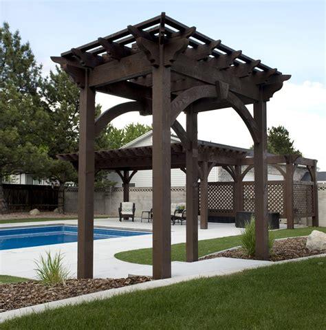 pergola kits utah impressive poolside pergola cantilever roof trellises arbor western timber frame