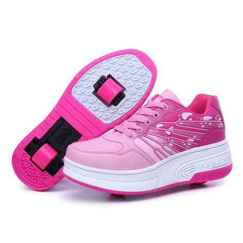 sneaker with wheels new autumn winter children automatic plastic wheel shoes