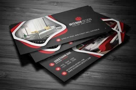 interior design business card  freepsdvn