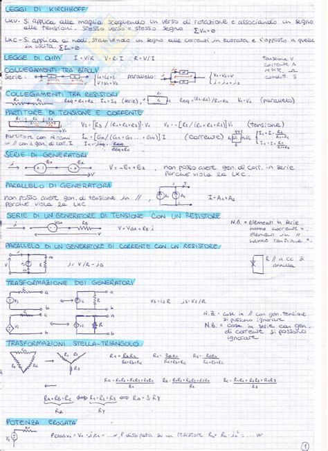 dispensa elettrotecnica formulario dell esame appunti di elettrotecnica
