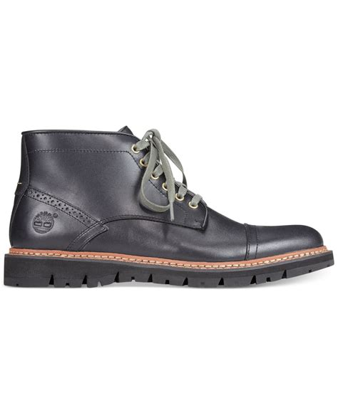 timberland earthkeepers britton hill chukka boots in black