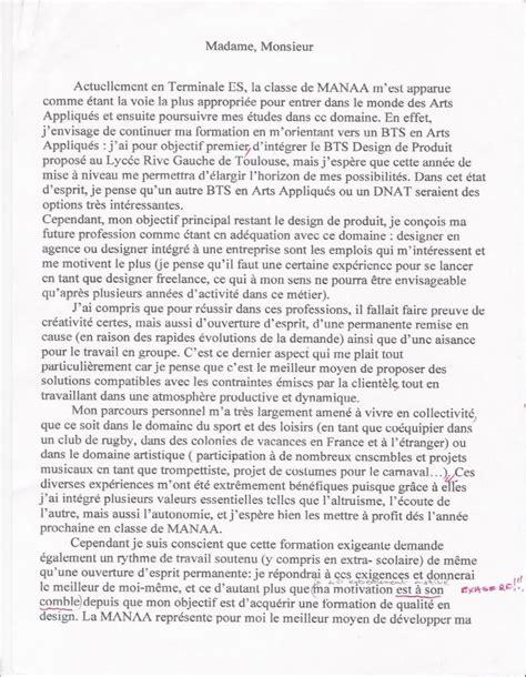Exemple De Lettre De Motivation Manaa Lettre De Motivation Manuscrite Exemple Employment Application