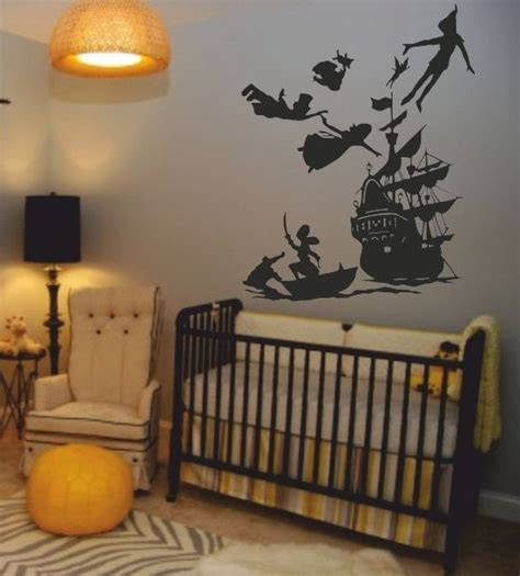 neverland themed bedroom peter pan wall decals perfect for a kids room boy s