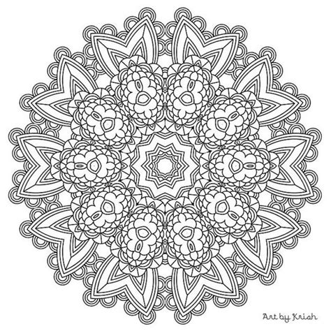 Mandala Adult Coloring Page 15