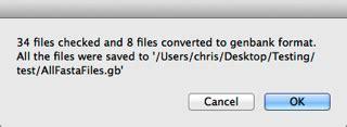genbank format converter using applescript to batch convert files macvector talk