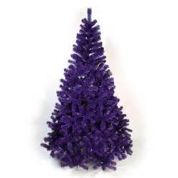 6ft purple artificial christmas tree