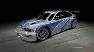 bmw m3 gtr need for speed most wanted by outcastone on