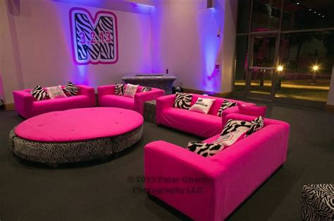 neon bedroom ideas neon pink zebra jungle theme bat mitzvah mazelmoments com