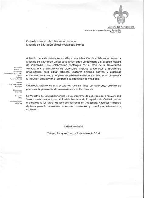 carta de intencion trabajo file carta de intenci 243 n programa de educaci 243 n de