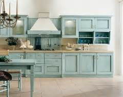 what to pair with duck egg blue kitchen cabinets