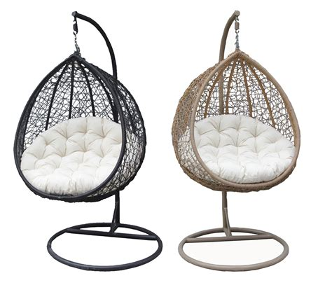 hanging rattan swing chair bentley garden wicker rattan patio hanging swing chair