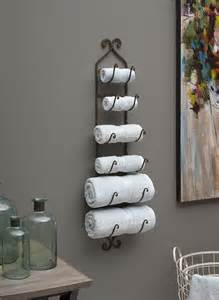 wall towel holders bathrooms tuscan bath towel rack or wine bottle holder iron bronze