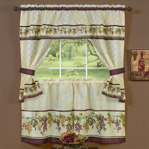 grapes kitchen curtains tuscany grape kitchen window tier and valance set