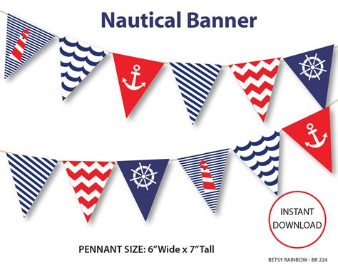 nautical banner printable banner nautical diy party navy