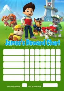 Personalised Name Wall Stickers For Kids personalised paw patrol reward chart adding photo option