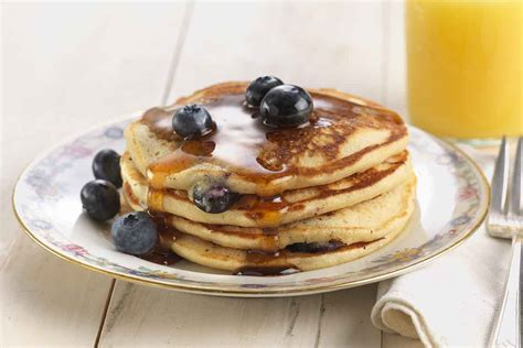 blueberry pancake blueberry pancakes recipe king arthur flour