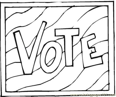 election day coloring pages preschool election day coloring pages getcoloringpages com