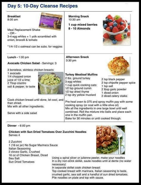 10 Day Detox Diet Meal Plan by Day 5 10 Day Cleanse Recipes Www Advocare 141113430