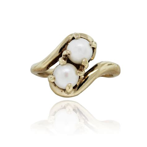 Gold Pearl Ring by Yellow Gold 5 30mm Cultured Pearl Ring
