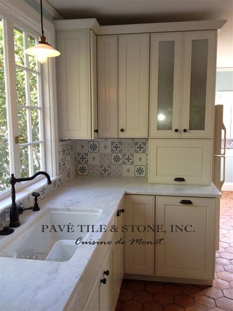 stone accent wall kitchen farmhouse with kitchen sink in cuisine de monet decorative wall tile and farmhouse