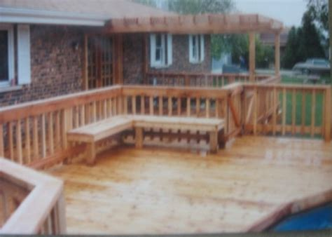 deck with built in bench deck with built in bench decks northwestindiana