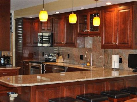 kitchens with cherry cabinets pictures and beautiful