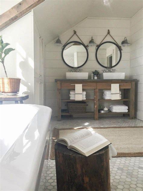 farmhouse master bathroom farmhouse master bathroom subway tiles rustic wood and