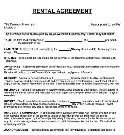 Rental Property Lease Agreement Gtld World Congress Property Lease Template