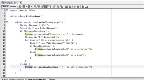 tutorial java coding java programming tutorials how make list of files and