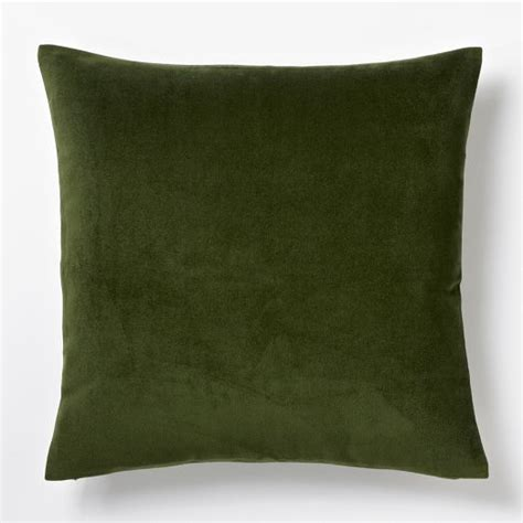 Green Velvet Throw Pillows by Green Velvet Pillows Throws