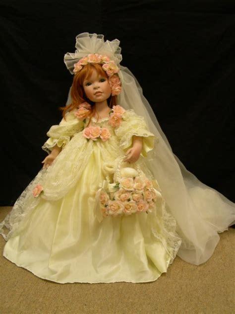 porcelain doll yellow dress 946 m rick porcelain doll hair yellow dress