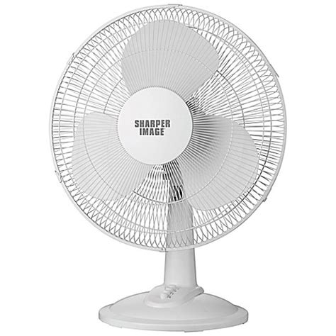 bed bath and beyond fan sharper image 174 12 inch tabletop fan in white bed bath beyond