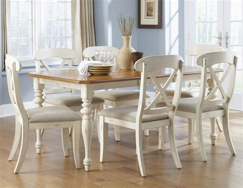 Dining Room Set W X Back Side Chairs In Bisque White Pine