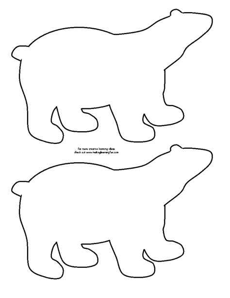 Printable Polar Bear Template Search Results Calendar 2015 Animal Templates