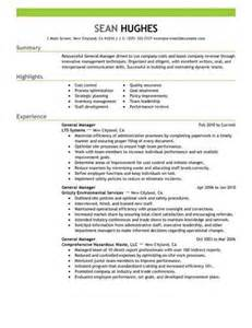 link to an general manager resume