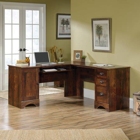 sauder harbor view corner computer desk curado cherry finish sauder harbor view corner computer desk curado cherry