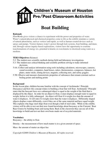 boat building resources boat building by childrensmuseumofhouston1 teaching