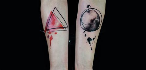 watercolor tattoo geometric watercolor triangle on arm 187 ideas
