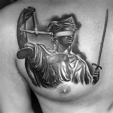 justice tattoo chest 40 lady justice tattoo designs for men impartial scale ideas