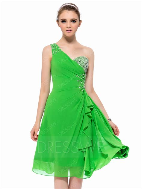 Shoulder Plain A Line Dress plain beaded one shoulder a line homecoming