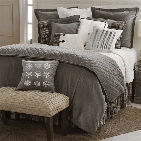 rustic bedding silver mountain bedding collection black