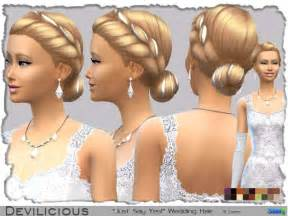 sims 4 hairstyles the sims 4 women s wedding hair free download