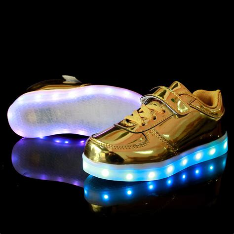 light up shoes usb charging light up shoes gold patent leather low