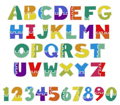 design of font crossword clue wooden puzzle font embroidery alphabet from embroidery