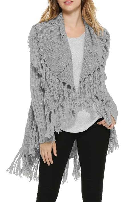 Bordir Sweater elan fringe border sweater from wyoming by fashion